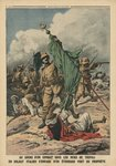 An Italian soldier seizing the green standard of Prophet Muhammed, illustration from 'Le Petit Journal', supplement illustre, 12th November 1911 (colour litho) Wall Art & Canvas Prints by P.H.G.V. Michel