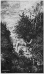 The Good Samaritan, 1860 (Indian ink & wash & pen on Bristol board) Fine Art Print by Paul Cezanne