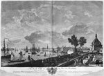 View of the Town and Port of Bordeaux seen from Chateau Trompette, series of 'Les Ports de France', engraved by Charles Nicolas Cochin the Younger (1715-90) and Jacques Philippe Le Bas (1707-83) 1764 (etching & burin) Wall Art & Canvas Prints by French School
