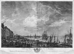 View of the Town and Port of Bordeaux seen from the Salinieres, series of 'Les Ports de France', engraved by Charles Nicolas Cochin the Younger (1715-90) and Jacques Philippe Le Bas (1707-83) 1762 (etching & burin) Wall Art & Canvas Prints by Hendrik van Minderhout