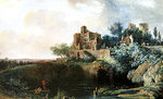Landscape, 1767 (oil on canvas) Wall Art & Canvas Prints by Luigi Loir