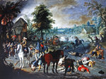 Pillage Scene in a Village (oil on canvas) Fine Art Print by Francois Joseph Heim