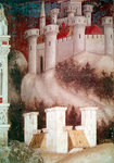 Detail of the architecture on the right of St. George and the Princess of Trebizond, c.1433-38 (fresco) (detail of 60797) Postcards, Greetings Cards, Art Prints, Canvas, Framed Pictures & Wall Art by Gustave Dore