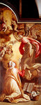 The Annunciation (oil on panel) Wall Art & Canvas Prints by Luca Giordano