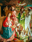 Adoration of the Magi, far right panel from the retable on the high altar, 1480 (oil on panel) Postcards, Greetings Cards, Art Prints, Canvas, Framed Pictures, T-shirts & Wall Art by Bernardino Luini