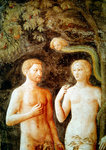 Detail of the Temptation of Adam and Eve, c.1423-25 (fresco) (detail of 430556) Postcards, Greetings Cards, Art Prints, Canvas, Framed Pictures & Wall Art by Albrecht Dürer or Duerer