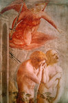 Detail of Adam and Eve Banished from Paradise, c.1427 (fresco) (detail of 30029) Fine Art Print by Bernardino Luini