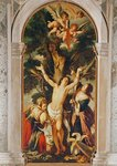 The Martyrdom of St. Sebastian in the Chapel of Benedict XIII (oil on canvas) Wall Art & Canvas Prints by Domenichino