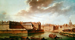 The Ile Saint-Louis and the Hotel de Bretonvilliers in 1757 (oil on canvas) Postcards, Greetings Cards, Art Prints, Canvas, Framed Pictures, T-shirts & Wall Art by Charles Laurent Grevenbroeck