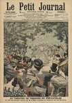 Open-air Theatre at the Pre-Catelan, Dance Festival presented by Georges Leygues in honour of Sisowath, King of Cambodia, front cover illustration of 'Le Petit Journal', supplement illustre, 22nd July 1906 (colour litho) Wall Art & Canvas Prints by Gaston de La Touche