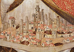 Detail of San Gimignano, c.1391 (tempera on panel) Wall Art & Canvas Prints by French School