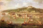 The Port of Naples (oil on canvas) Wall Art & Canvas Prints by Ted Blackall