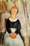 The Beautiful Grocer (oil on canvas) Wall Art & Canvas Prints by Amedeo Modigliani