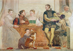Detail of The Banquet, c.1570 (fresco) Wall Art & Canvas Prints by Dewey Bates