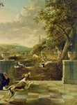 Hunting scene (oil on canvas) Wall Art & Canvas Prints by Jacobus Schlachter