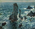 The Rocks at Belle Ile, 1886 Postcards, Greetings Cards, Art Prints, Canvas, Framed Pictures, T-shirts & Wall Art by Claude Monet