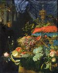 Still Life (oil on canvas) Fine Art Print by Martin Schongauer