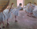 Dancers at Rehearsal, , 1875-1877 (pastel on cardboard) Fine Art Print by Edgar Degas