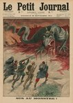 Death to the monster, front cover illustration from 'Le Petit Journal', supplement illustre, 20th September 1914 (colour litho) Wall Art & Canvas Prints by Jean Baptiste Mauzaisse