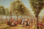 El Paseo de las Delicias, Madrid, 1785-6 (oil on canvas) (see also 109923) Fine Art Print by Rose Maynard Barton