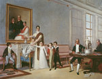 The Family of the First Viscount of Santarem, 1816 (oil on canvas) Fine Art Print by French School