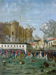 The Bastille Prison, 14th July 1789 (oil on canvas) Fine Art Print by Lesueur Brothers