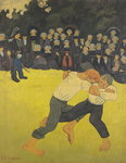The Wrestling Bretons, c.1893 (oil on canvas) Wall Art & Canvas Prints by Paul Serusier