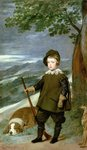 Prince Balthasar Carlos (1629-49) Dressed as a Hunter, 1635-36 (oil on canvas) Postcards, Greetings Cards, Art Prints, Canvas, Framed Pictures, T-shirts & Wall Art by David Allan