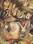 The Garden of Earthly Delights: Allegory of Luxury, central panel of triptych, c.1500 (oil on panel) (detail of 3425) Fine Art Print by Ernest Henry Griset