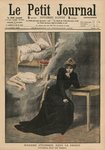 Marguerite Steinheil in prison, front cover illustration from 'Le Petit Journal', supplement illustre, 13th December 1908 (colour litho) Wall Art & Canvas Prints by English School