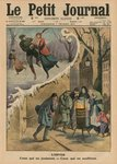 Winter, those who enjoy it, those who suffer from it, front cover illustration from 'Le Petit Journal', supplement illustre, 1st February 1914 (colour litho) Fine Art Print by Jean Raymond Hippolyte Lazerges