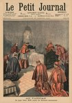 At the Vatican, Pope Leo XIII receiving the last rites, front cover illustration from 'Le Petit Journal', supplement illustre, 19th July 1903 (colour litho) Wall Art & Canvas Prints by Luis Monroy