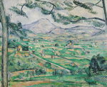 Montagne Sainte-Victoire, 1886-87 Wall Art & Canvas Prints by Paul Cezanne