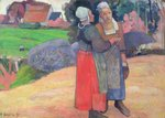 Breton Peasants, 1894 (oil on canvas) Fine Art Print by Paul Gauguin