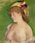 The Blonde with Bare Breasts, 1878 (oil on canvas) Fine Art Print by Alfred George Stevens