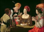 The Cheat with the Ace of Diamonds, c.1635-40 (oil on canvas) (for details see 90054-56) Postcards, Greetings Cards, Art Prints, Canvas, Framed Pictures, T-shirts & Wall Art by Georges de la Tour