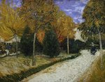 Path in the Park at Arles, 1888 (oil on canvas) Fine Art Print by Vincent van Gogh