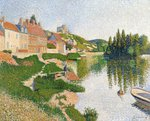 The River Bank, Petit-Andely, 1886 (oil on canvas) Wall Art & Canvas Prints by Theo van Rysselberghe