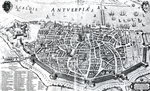 Map of Antwerp (engraving) (b/w photo) Fine Art Print by Nasuh Al-Silahi