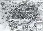 Map of Antwerp, 1598 (engraving) (b/w photo) Fine Art Print by Nasuh Al-Silahi
