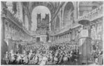 Thanksgiving at St. Paul's for George III's (1738-1820) Recovery from Illness (engraving) (b/w photo) Fine Art Print by French School