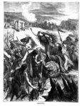 Boadicea Inciting the Iceni against the Romans (engraving) (b&w photo) Postcards, Greetings Cards, Art Prints, Canvas, Framed Pictures & Wall Art by Peter Jackson