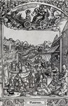 Saturn, c.15th (engraving) Postcards, Greetings Cards, Art Prints, Canvas, Framed Pictures, T-shirts & Wall Art by Jacopo Bassano