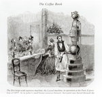 The first large-scale espresso machine (engraving) Wall Art & Canvas Prints by Max Ferguson