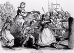 The Welsh Rioters Fine Art Print by John Leech