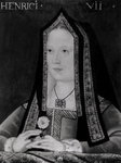 Portrait of Elizabeth of York (1465-1503) (oil on canvas) (b/w photo) Wall Art & Canvas Prints by William the Younger Holl