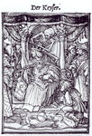 Death and the Emperor, from 'The Dance of Death', engraving by Hans Lutzelburger, c.1538 Fine Art Print by Hans Holbein The Younger