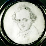 Felix Mendelssohn (1809-47) (pencil on paper) (b/w photo)