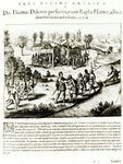 Ralph Hamor visits Powhatan, 1619 (engraving) (b/w photo) Wall Art & Canvas Prints by Samuel Daniell