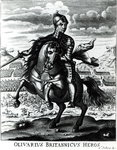 Equestrian portrait of Oliver Cromwell Fine Art Print by James Edwin McConnell